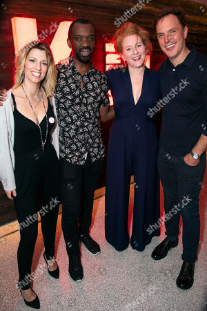 Claire Goose (Juliet), Daon Broni (Nick), Dorothea Myer-Bennett (Simone) and Daniel Lapaine (Sam)