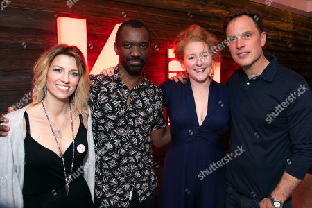 Stock Picture of Claire Goose (Juliet), Daon Broni (Nick), Dorothea Myer-Bennett (Simone) and Daniel Lapaine (Sam)