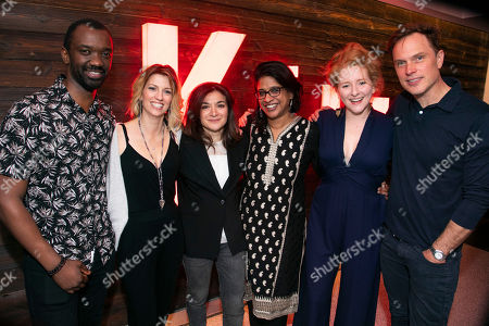 Stock Image of Daon Broni (Nick), Claire Goose (Juliet), Alexis Zegerman (Author), Indhu Rubasingham (Director), Dorothea Myer-Bennett (Simone) and Daniel Lapaine (Sam)