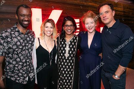 Daon Broni (Nick), Claire Goose (Juliet), Indhu Rubasingham (Director), Dorothea Myer-Bennett (Simone) and Daniel Lapaine (Sam)