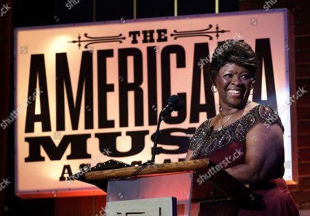 Irma Thomas receives the lifetime achievement award for performance during the Americana Honors and Awards show, in Nashville, Tenn