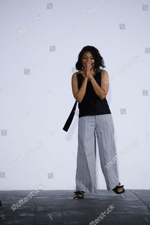 Stock Picture of Amaka Osakwe on the catwalk