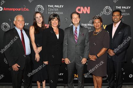 Walter Isaacson, Alicia Menendez, Christiane Amanpour, Michel Martin and Hari Sreenivasan