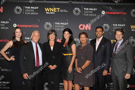 Alicia Menendez, Walter Isaacson, Christiane Amanpour, Maureen J. Reidy, Michel Martin, Hari Sreenivasan and Neal Shapiro