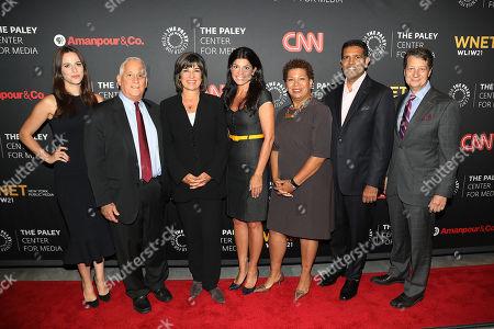 Stock Photo of Alicia Menendez, Walter Isaacson, Christiane Amanpour, Maureen J. Reidy, Michel Martin, Hari Sreenivasan and Neal Shapiro