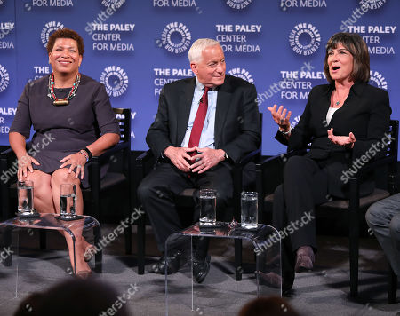 Michel Martin, Walter Isaacson and Christiane Amanpour