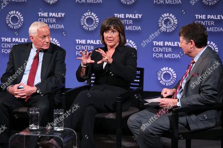 Walter Isaacson, Christiane Amanpour and Neal Shapiro