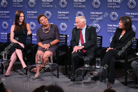 Stock Picture of Alicia Menendez, Michel Martin, Walter Isaacson and Christiane Amanpour