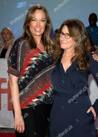 US actress and cast member Elizabeth Marvel (L) and US director Nicole Holofcener (R) arrive for the screening of the movie 'The Land Of Steady Habits' during the 43rd annual Toronto International Film Festival (TIFF) in Toronto, Canada, 12 September 2018.