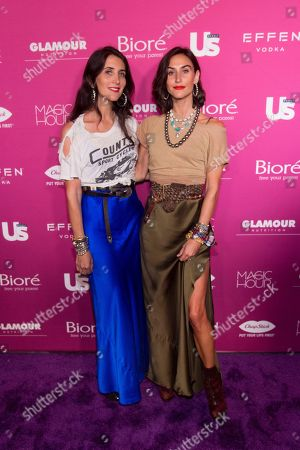 Stock Picture of Danielle Snyder, Jodie Snyder-Morel, Dannijo. Danielle Snyder, left, and Jodie Snyder-Morel of Dannijo attend Us Weekly's Most Stylish New Yorkers of 2018 party at Magic Hour Rooftop Bar and Lounge on in New York