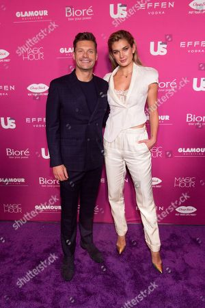 Ryan Seacrest, Shayna Taylor. Ryan Seacrest, left, and model Shayna Taylor attend Us Weekly's Most Stylish New Yorkers of 2018 party at Magic Hour Rooftop Bar and Lounge on in New York