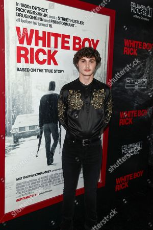"""Richie Merritt attends a special screening of """"White Boy Rick"""" at The Paris Theater, in New York"""