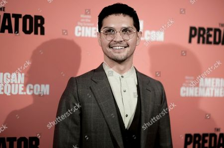 """Augusto Aguilera attends a special screening of """"The Predator"""" at Grauman's Egyptian Theatre, in Los Angeles"""