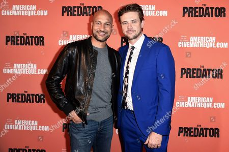 """Boyd Holbrook, Keegan-Michael Key. Keegan-Michael Key, left, and Boyd Holbrook attend a special screening of """"The Predator"""" at Grauman's Egyptian Theatre, in Los Angeles"""