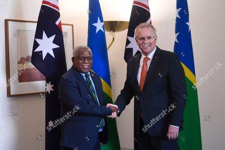 Editorial picture of Prime Minister of Solomon Islands Rick Houenipwela visits Australia, Canberra - 13 Sep 2018