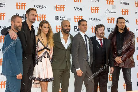 James Badge Dale, Alexander Skarsgard, Riley Keough, Jeffrey Wright, Jeremy Saulnier, Macon Blair, and Julian Black Antelope