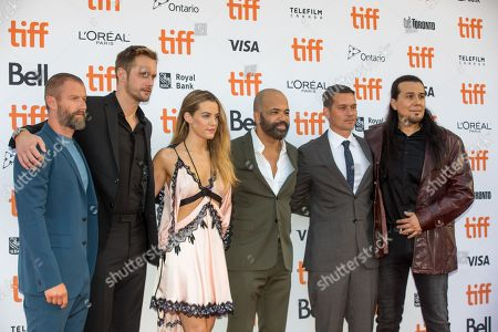 Stock Image of James Badge Dale, Alexander Skarsgard, Riley Keough, Jeffrey Wright, Jeremy Saulnier and Julian Black Antelope