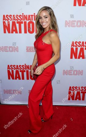 "Courtney B Turk arrives at the LA Premiere of ""Assassination Nation"" at the Arclight Hollywood, in Los Angeles"