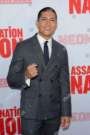 """Danny Ramirez arrives at the LA Premiere of """"Assassination Nation"""" at the Arclight Hollywood, in Los Angeles"""