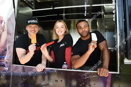 Rupert Grint, Phoebe Dynevor and Lucien Laviscount attend Sony Crackle's 'Snatch' cast visit, Los Angeles