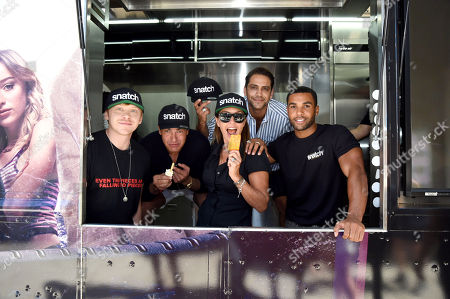 Rupert Grint, Tamer Hassan, Juliet Aubrey, Luke Pasqualino and Lucien Laviscount attend Sony Crackle's 'Snatch' cast visit, Los Angeles
