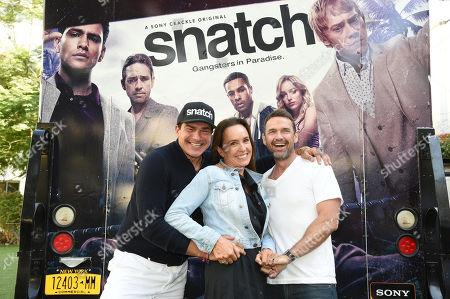 Tamer Hassan Juliet Aubrey and Dougray Scott attend Sony Crackle's 'Snatch' cast visit, Los Angeles
