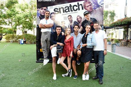 Lucien Laviscount, Tamer Hassan, Phoebe Dynevor, Luke Pasqualino, Rupert Grint, Juliet Aubrey and Dougray Scott attend Sony Crackle's 'Snatch' cast visit, Los Angeles