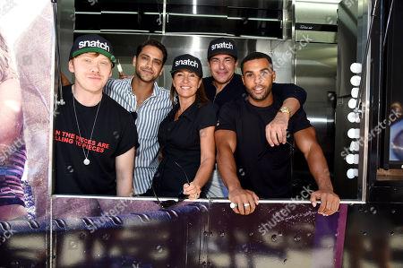 Rupert Grint, Luke Pasqualino, Juliet Aubrey, Tamer Hassan and Lucien Laviscount attend Sony Crackle's 'Snatch' cast visit, Los Angeles