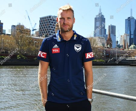 Sweden World Cup striker and new Melbourne Victory signing Ola Toivonen poses for photographs in Southbank, Melbourne, Australia, 13 September 2018. Toivonen has signed a two-year deal with A-League side Melbourne Victory, moving from Toulouse after helping his national team to a quarter-final finish in Russia.