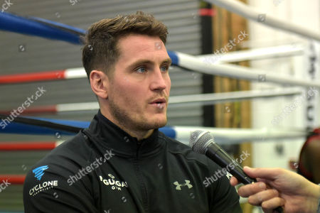 Shane McGuigan during a Cyclone Promotions Media Event at McGuigan's Gym on 12th September 2018