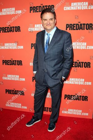 Stock Picture of US director/writer Shane Black at the screening of 20th Century Fox's 'The Predator,' at the Egyptian Theatre in Los Angeles California, USA, 12 September 2018. The film opens in the US on 09 February 2018.