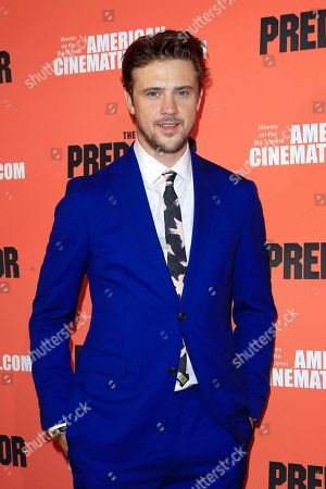 US actor/cast member Boyd Holbrook at the screening of 20th Century Fox's 'The Predator,' at the Egyptian Theatre in Los Angeles California, USA, 12 September 2018. The film opens in the US 9 February 2018.