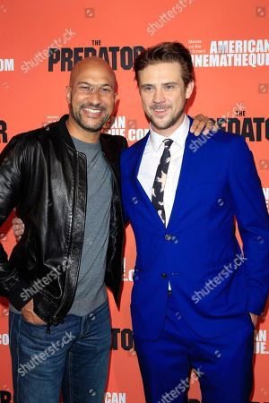 Stock Photo of US actors/cast members Keegan-Michael Key (L) and Boyd Holbrook at the screening of 20th Century Fox's 'The Predator,' at the Egyptian Theatre in Los Angeles California, USA, 12 September 2018. The film opens in the US 9 February 2018.