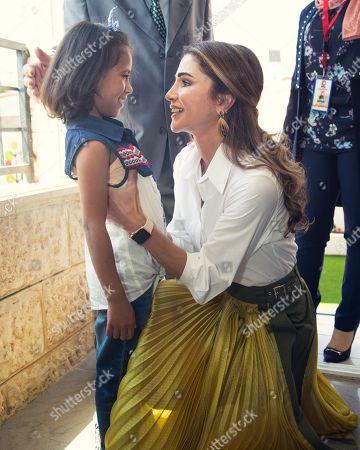Queen Rania visits an orphanage, Al Salt
