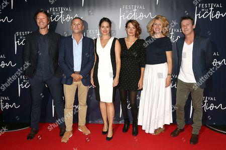 Jury members Bruno Debrandt, Jean-Benoit Gillig, Jury President Marie Gillain, Audrey Ismael, Baya Kasmi and Christophe Lamotte