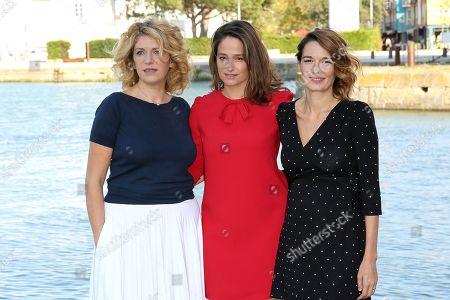 Jury members Baya Kasmi, president Marie Gillain and Audrey Ismael