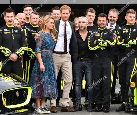 Prince Harry visits the Invictus Games Racing Team