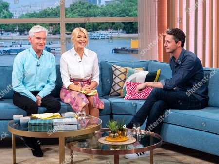 Phillip Schofield and Holly Willoughby with Matthew Goode