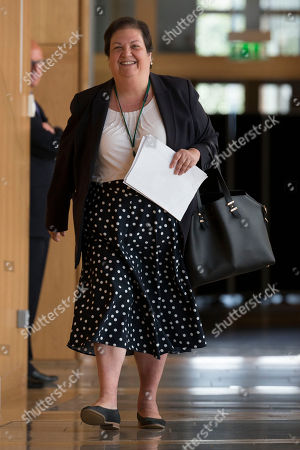 Stock Picture of Jackie Baillie makes her way to the Debating Chamber.