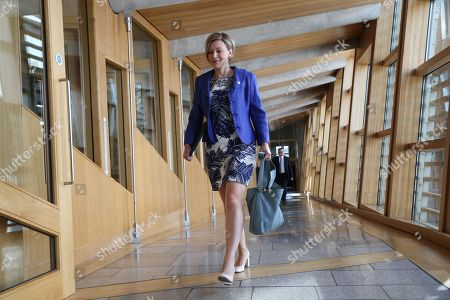 Gillian Martin makes her way to the Debating Chamber.