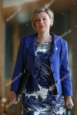 Stock Image of Gillian Martin makes her way to the Debating Chamber.