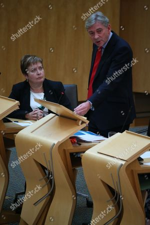 Rhoda Grant and Richard Leonard, Leader of the Scottish Labour Party