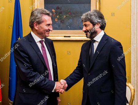 Roberto Fico, Gunther Oettinger