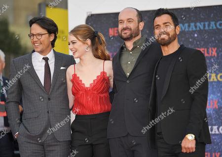 Cary Fukunaga, Emma Stone, Patrick Somerville and Justin Theroux