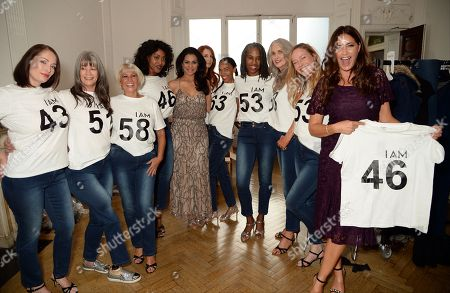 Lady Wilnelia Merced and Lisa Snowdon with models
