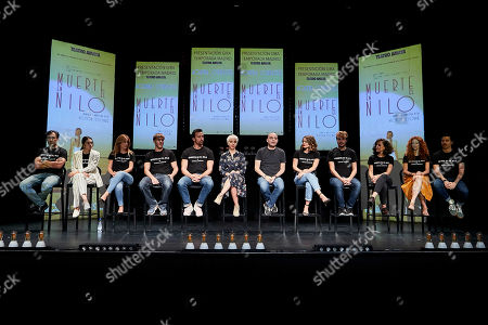 Editorial photo of 'Muerte en el Nilo' play photocall, Madrid, Spain - 13 Sep 2018