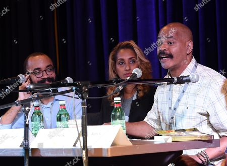 Stock Image of Singer/Songwriters Steven Lewis, Terika Dean and Guy Davis
