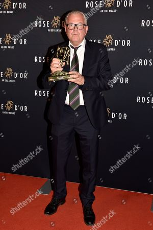Winners in the category Sitcom with the Film 'Detectorists' Jim Reid poses at the 57th Rose d'Or Award ceremony in Berlin, Germany, 13 September 2018. The European Broadcasting Union (EBU) honors with this award the contribution to the world of entertainment of one talented individual over the past 12 months.