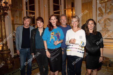 Stock Image of Pascal Demolon, Marie Castille Mention Schaar, Audrey Fleurot, Philippe Lefebvre, Olivia Côte and Camille Chamoux