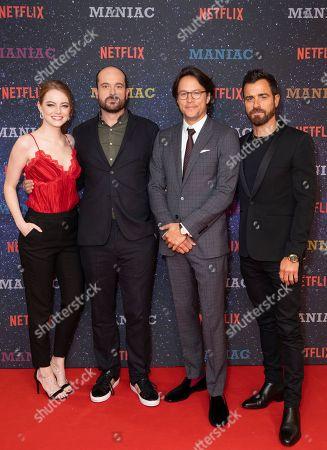 Emma Stone, Patrick Somerville, Cary Fukunaga and Justin Theroux